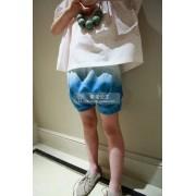 กางเกงเด็กทรงบอลลูนสียีนส์ฟ้า