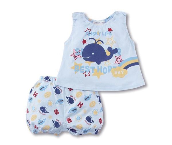 ชุดเสื้อกางเกงเด็ก ชุดเด็ก ชุดเด็กเกาหลี ชุดแฟชั่นเด็ก ชุดเด็กเล็ก ชุดเสื้อกางเกงเด็กลายปลาวาฬ เสื้อกล้ามเด็กลายปลาวาฬ เสื้อกล้ามเด็กสีฟ้า กางเกงเด็กขาสั้น กางเกงเด็กลายปลาวาฬ กางเกงเด็กสีฟ้า